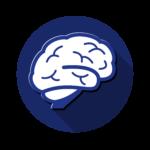 Icone d'un cerveau, représentant les neurosciences.